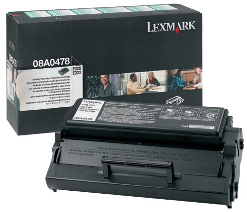 Lexmark 08A0478 Toner schwarz 6.000 Seiten