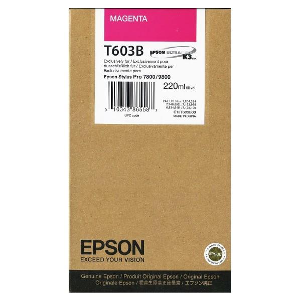 Epson T603B Tinte magenta 220 ml
